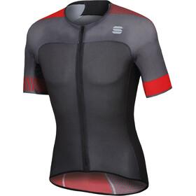 Sportful Bodyfit Pro 2.0 Light Maillot de cyclisme Homme, anthracite/black/red